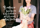 [꽃처럼 글씨] 꽃선물의 의미