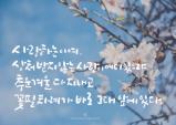 [꽃처럼 글씨] 그대 앞에 봄이 있다