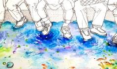 [미술하는 스누피] 연못 지하철