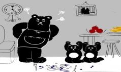 [생각하는 일러스트] 어미 곰의 잔소리