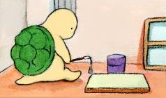 [거북이의 손그림] 그리워진 하루