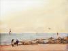 [거북이의 손그림] 어느 날의 따사로운 해변을 그리며
