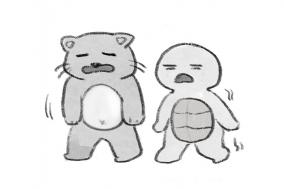 [거북이의 손그림] 사라져가는 체력