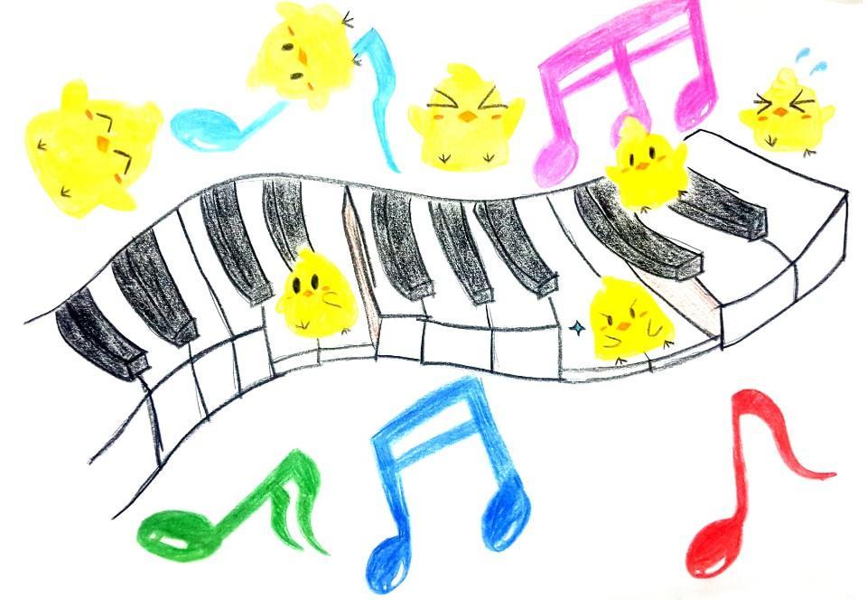 피아노를 달리는 병아리.jpg