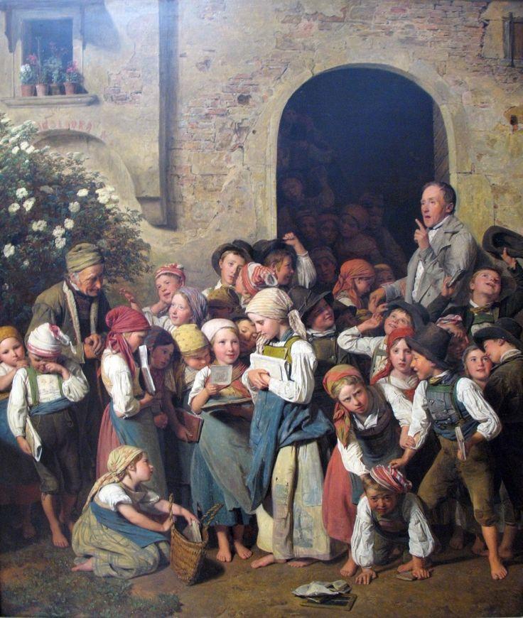 페르디난드 게오르크 발트뮐러 After School, oil on canvas, 1841.jpg