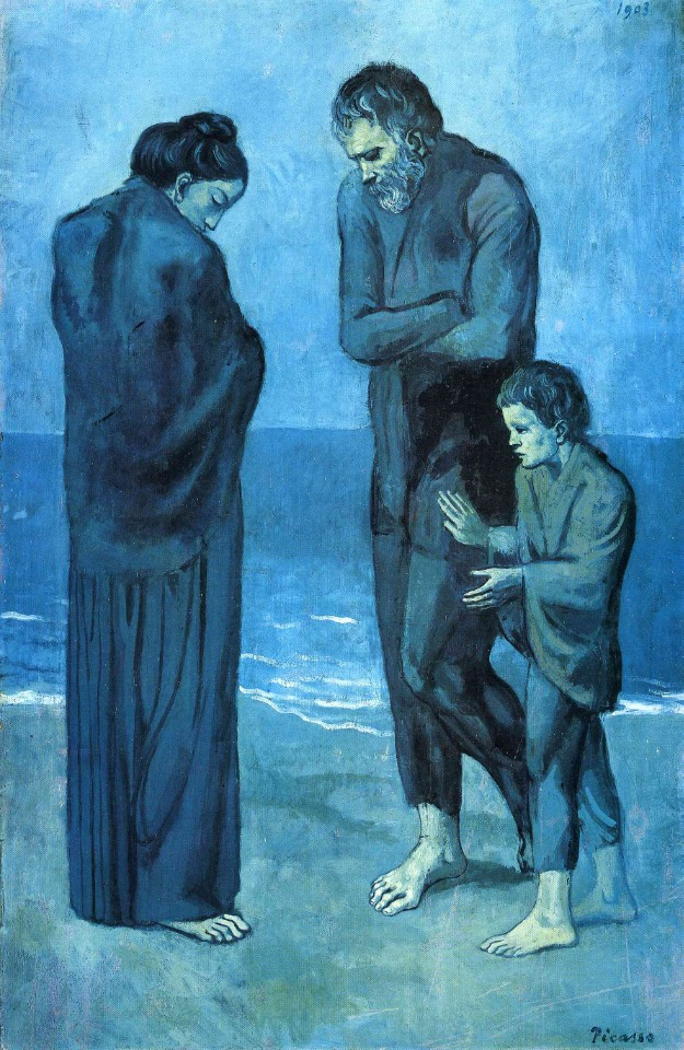 Pablo Picasso, Tragedy, oil on wood,1963.jpg