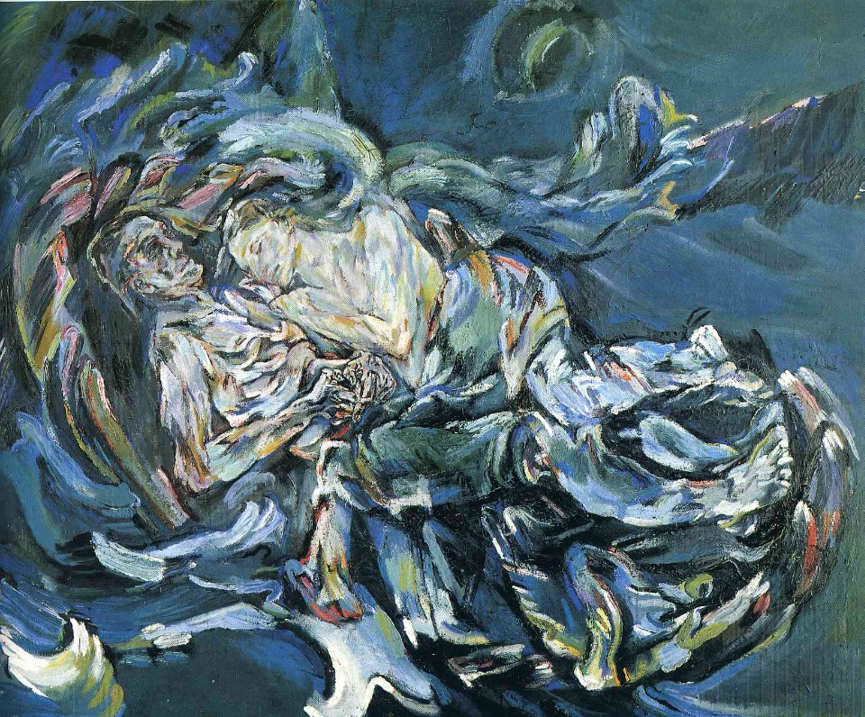 오스카 코코슈카(Oskar Kokoschka), Bride of the Wind, oil on canvas, 1913-1914.jpg