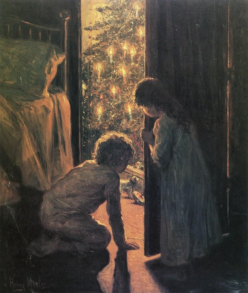 Henry Mosler, Christmas Morning, oil on canvas, 1916.jpg