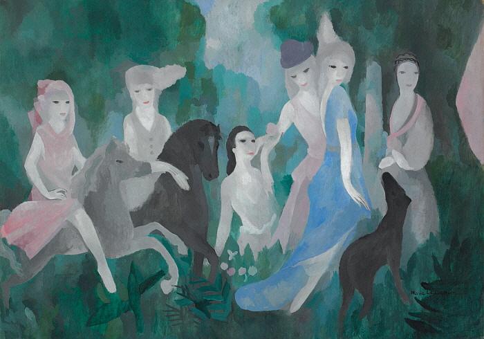 성(城)안에서의 생활, 1925, 캔버스에 유채, 114.4x162.3, Musée Marie Laurencin.jpg