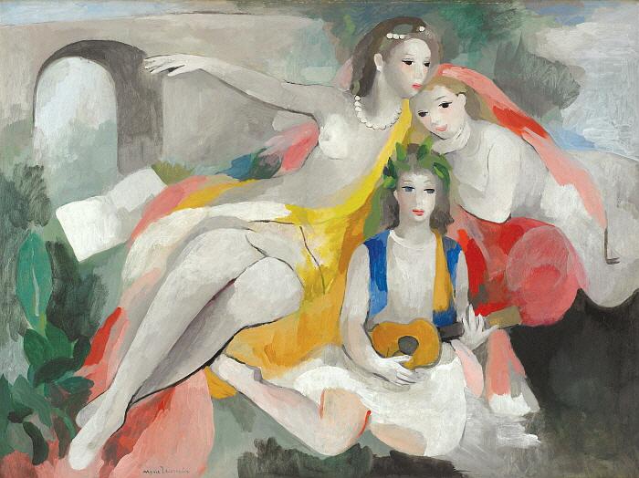 세명의 젊은 여인들, 1953년경, 캔버스에 유채, 97.3x131, Musée Marie Laurencin.jpg