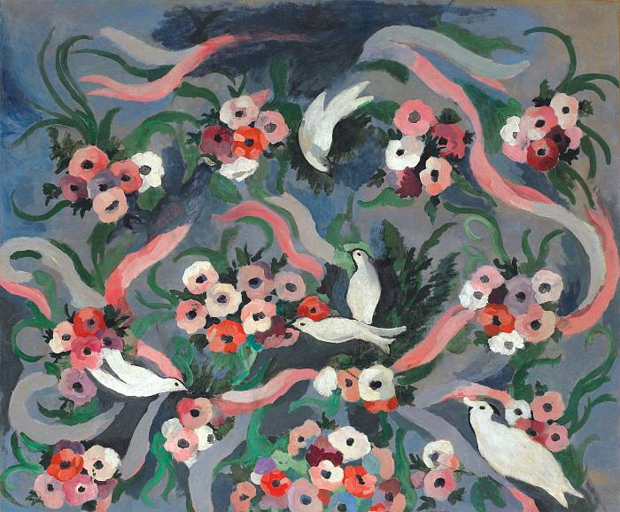 꽃과 비둘기, 1935년경, 캔버스에 유채, 105x125, Musée Marie Laurencin.jpg