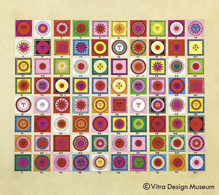 La Fonda del Sol matchbox designs, 69,5 x 84,6 x 2,7 cm.jpg