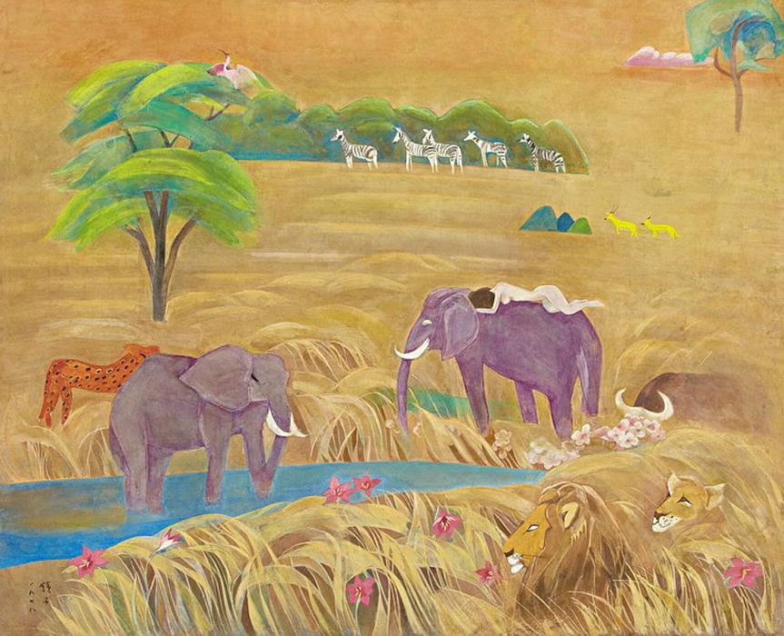 천경자, 초원II, 1973, 종이에 채색, 104x129.jpg