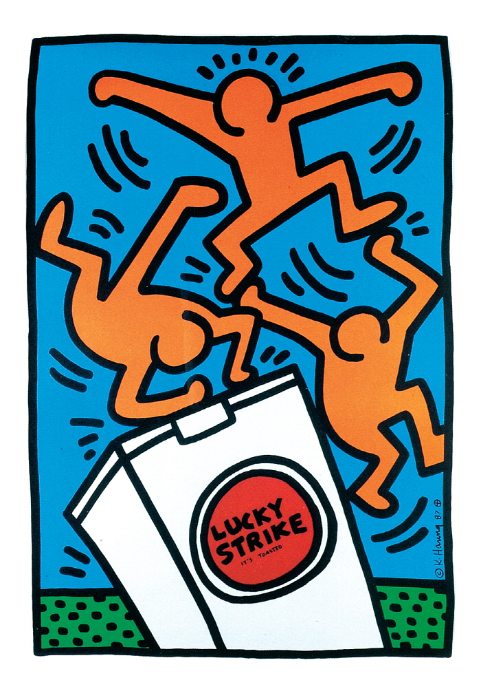 10] KEITH HARING_Lucky Strike II, 1987.jpg