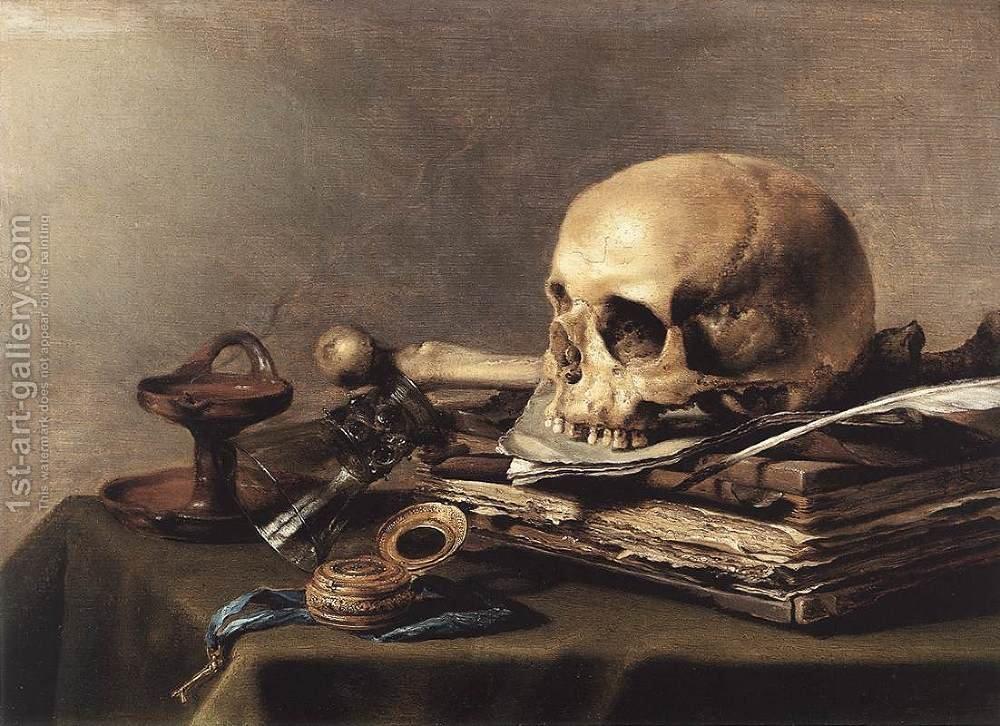 Vanitas Stil lLife, Pieter Claesz, oil on canvas, 1630.jpg