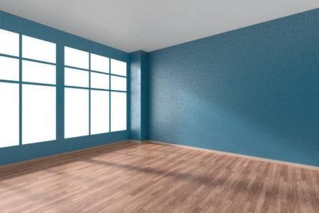53585139-나무-마루-바닥-큰-창문-파란색-질감-벽지-및-창에서-햇빛-투시도-3d-그림으로-벽-빈-방.jpg