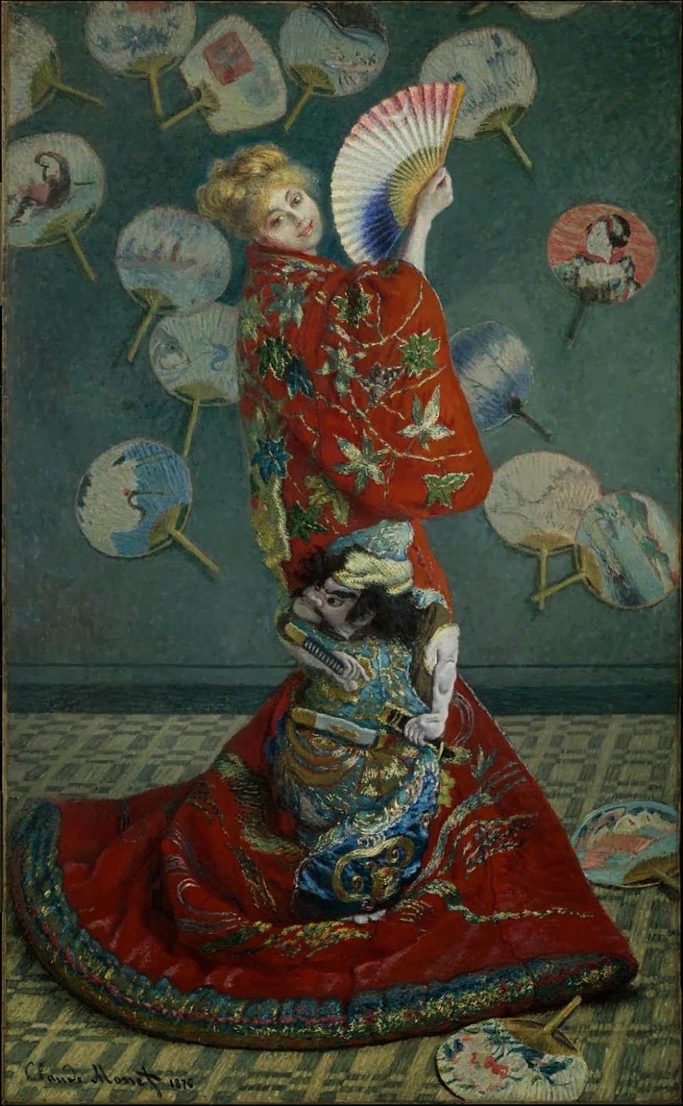 1876 La Japonaise (Camille Monet in Japanese Costume) oil on canvas 231.8 x 142.3 cm Museum of Fine Arts, Boston MA.jpg