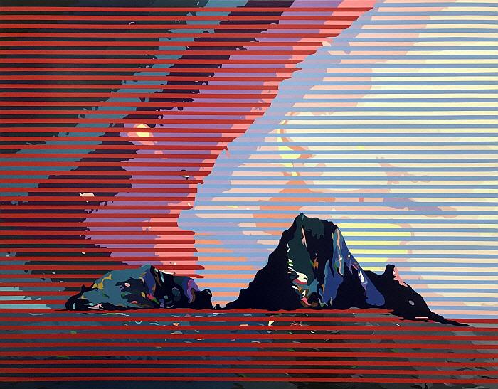 하태임, Dokdo 독도, 91x116.8 cm, Acrylic on Canvas, 2017.JPG