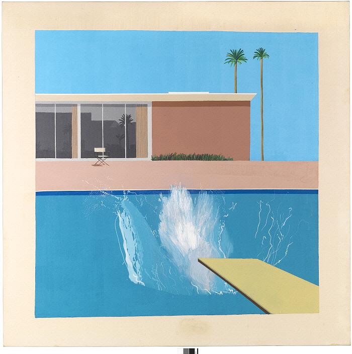13. _A  Bigger Splash_ 1963 Acrylic on canavs 96_ x 96_.jpg