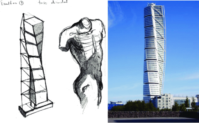 [크기변환]Santiago-Calatravas-Turning-Torso-and-his-inspiration-in-sketch-form.png