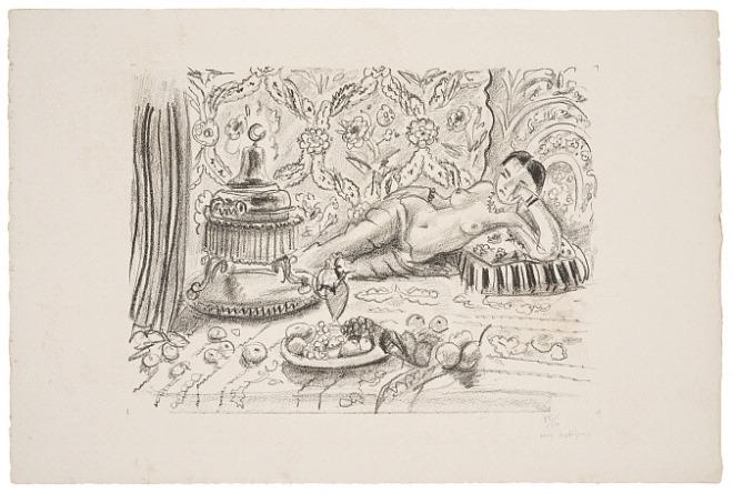 화로와 과일그릇 앞의 오달리스크, 1929.jpg