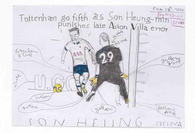 Tottenham go fifth, 2020, Rose Wylie (Photo by Jo Moon Price).jpg