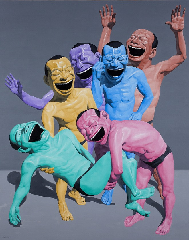 The Entombment, Oil on Canvas 380x300cm 2010 ⓒYue Minjun 2020.jpg