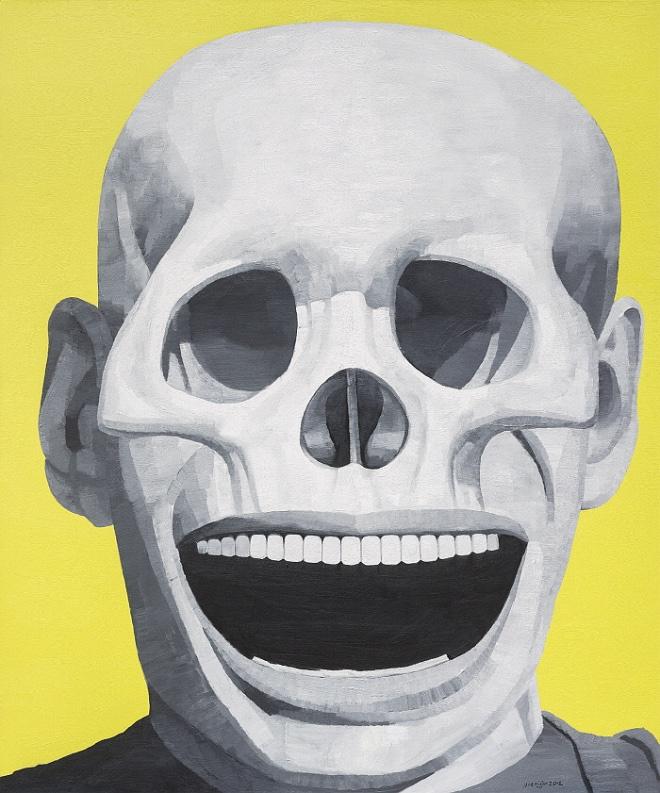 A Great Laugh, A Glorious Death, Oil on Canvas 240x200cm 2012 ⓒYue Minjun 2020.jpg