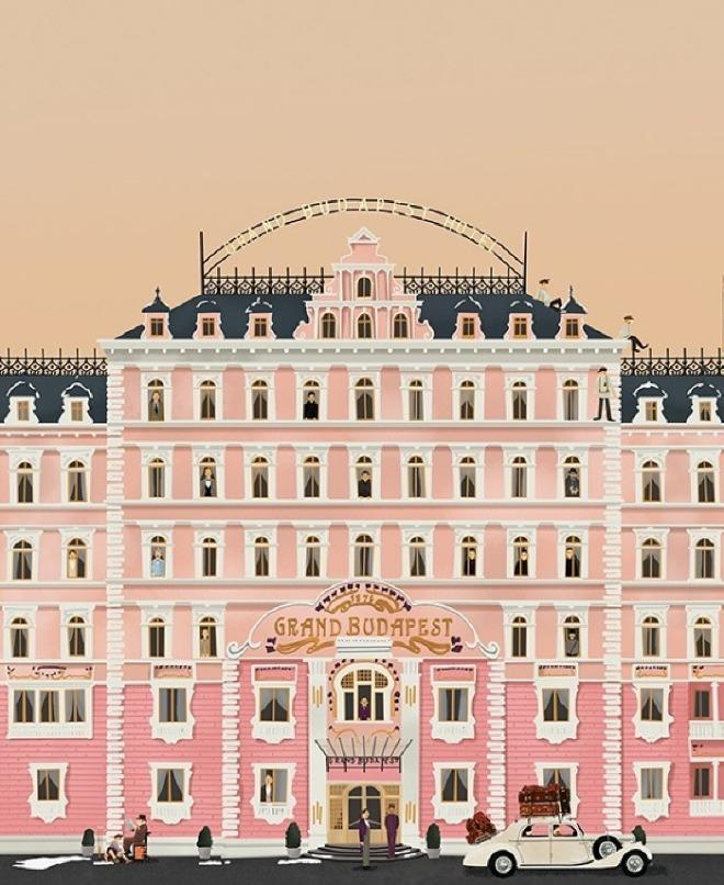 그랜드 부다페스트 호텔 표지 The Grand Budapest Hotel Cover 2015 아카이벌 페이퍼에 지클리 프린트 Giclee print on archival paper 91.5 X 122 cm.jpg