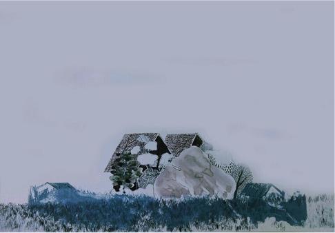 [겨울에 푸른 봄 展] 작가-한서주, IMAGINE THE GREEN IS RED, lithograpic printing with crayon on paper, 42 x 29.7 cm.jpg